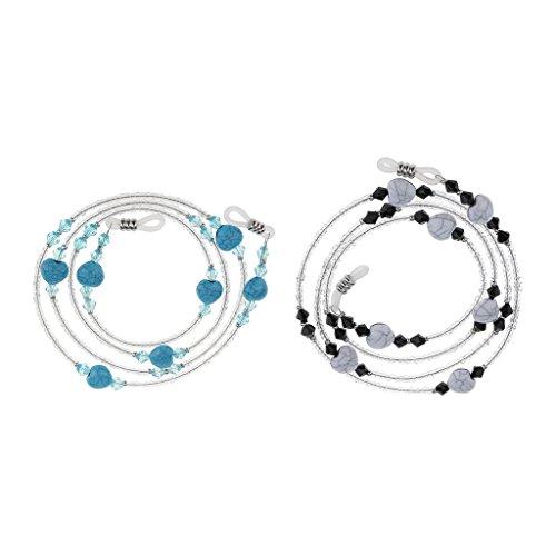 Homyl 2 Stücke Boho Stil Brillenketten Brillenband Modische Brillen Schmuck Kettenhalter mit Herz form Anhänger