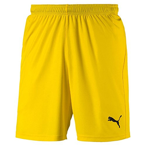 PUMA Herren Liga Shorts Core with Brief Hose, Cyber Yellow Black, L