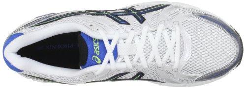Asics  Gel Phoenix M, Pompes à plateforme plate homme Blanc Cassé - Bianco (White/Blue/Neon Yellow)