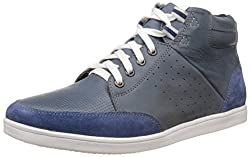 Bata Mens Lil Wayne Blue Boots - 9 UK/India (43 EU) (8019105)