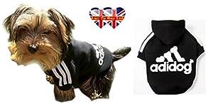 ad .. Dog, Chien capuche, sport Vêtements pour chien, 5 Taille (S-M-L-XL-XXL) 2 couleurs (rouge-noir) .cet article(S:faible, NOIR)