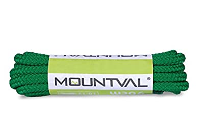 Mountval Laces, performance shoe laces for hiking and outdoor boots, ultra strong, made in Europe, 1 pair, multiple colours and lengths