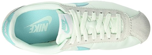 Nike Classic Cortez, Chaussures de Gymnastique Femme Turquoise (Igloo/aurora Green/white)