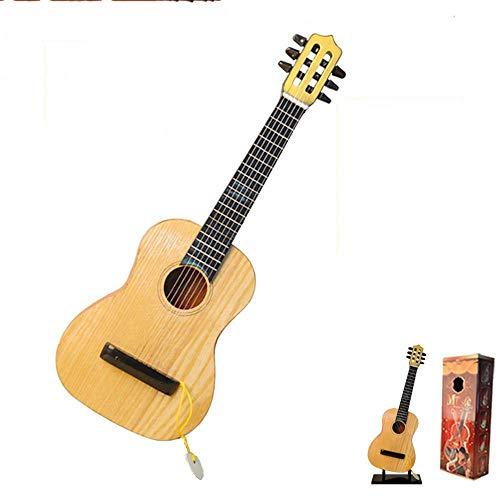 Mzl Kinder Gitarre Holz kann Kleine sechssaitige Gitarre 1 Nachahmung Holzspielzeug (Geschenke für die Kinder) Spielen.
