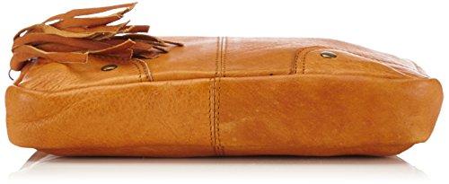 PIECES - PCMORE LEATHER CROSS OVER BAG, Borsa da donna Marrone (Braun (Cognac))