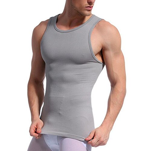 HOUTBY® Männer Abnehmen Body Shaper Abs Abdomen Slim Muscle Shirt Abnehmen Body Shaper Weste Shirt (Slim Nylon Shaper)