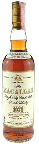 Mcallan Jahrgang 1978,abgefüllt 1996 Originalabfüllung - Single Highland Malt Scotch Whisky