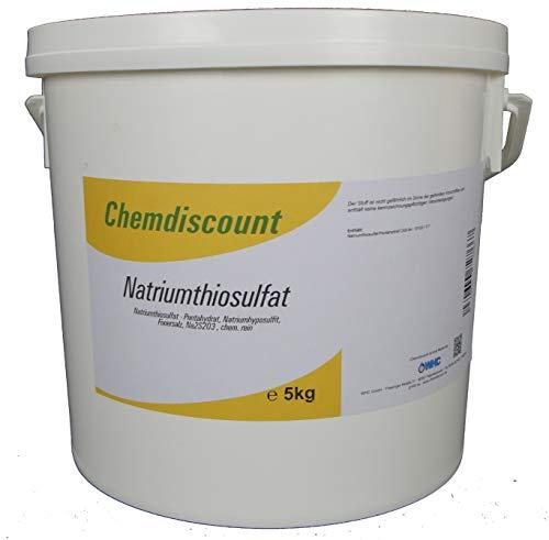 Chemdiscount 10kg (2x5kg) Natriumthiosulfat (-penthydrat), Na2S2O3, Fixiersalz, Chem. rein