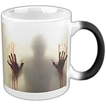Lingstar Tazza con motivo zombie The Walking Dead, in ceramica, cambia colore con il calore
