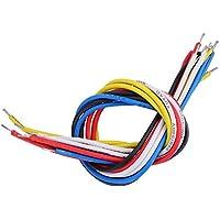 Aufee Cable de Guitarra de 3.5in / 7.5in, Cable de Guitarra, Cable de conexión de 2 Piezas, Instrumentos de Cuerda para bajo para Guitarra Guitarra eléctrica(19cm)