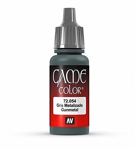 Vallejo Game Farbe, 17-ml-Acrylfarbe Gunmetal Metal