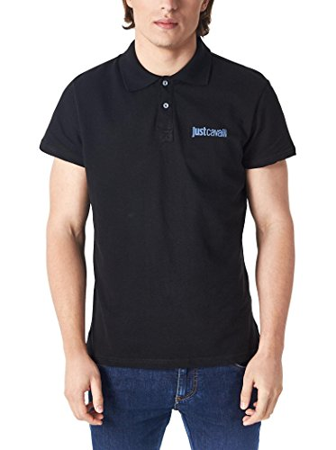 polo-just-cavalli-uomo-men-homme-t-shirt-100-cotone-colletto-contrasto-denim-l