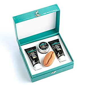 mCaffeine Mild Brew - Latte Gift Kit | Intensely Moisturizes, Nourishes & Repairs the Skin | Face Wash, Face Scrub, Face Moisturizer & Bathing Bar | Premium, Gender Neutral & Signature Aroma