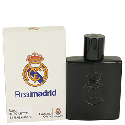 Real Madrid Black by Air Val International Eau De Toilette Spray 3.4 oz / 100 ml (Men)