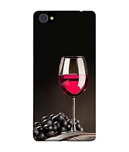 PrintVisa Designer Back Case Cover for Vivo X7 Plus (Red wine with black grapes)