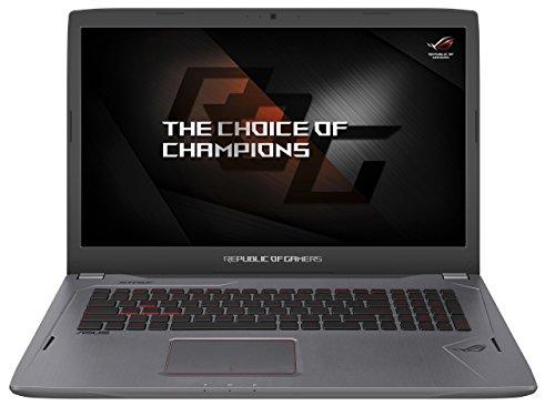 Asus ROG GL702VM-BA323T 43,94 cm (17,3 Zoll mattes FHD) Gaming-Laptop (Intel Core i7-7700HQ, 16GB RAM, 256GB SSD, 1TB HDD, NVIDIA GeForce GTX 1060, Win 10 Home) titaniumgold