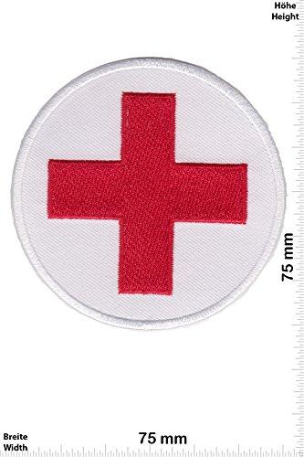 Patch-Iron-Rotes Kreuz - Red Cross - Emergency Medical Services - - Rettungsdienst - - Iron On Patches - Aufnäher Embleme Bügelbild Aufbügler