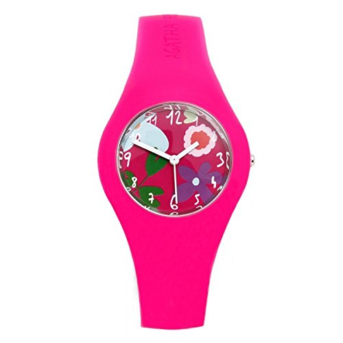 Agatha Ruiz de la Prada Armbanduhren Kinder und Jugendliche Analog Quarzwerk Silikonband AGR221