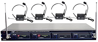 Pyle-Pro PDWM4400 4 Channel Wireless Belt Pack Microphone from Pyle