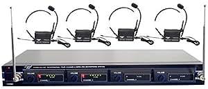 Pyle-Pro PDWM4400 4 Channel Wireless Belt Pack Microphone