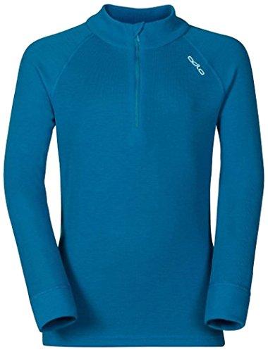 Odlo Kinder Shirt l/s Turtle Neck 1/2 Zip WARM Unterhemden Lg.arm Ki, Blue Jewel, 104 | 07613273934861