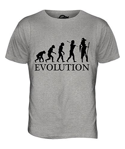 CandyMix Cosplay Evoluzione Umana T-Shirt da Uomo Maglietta Marne Grigio