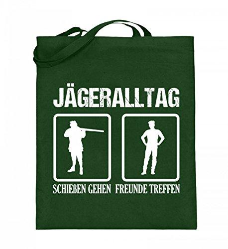 Hochwertiger Jutebeutel (mit langen Henkeln) - Jägeralltag - Für Jäger und Jägerinnen!