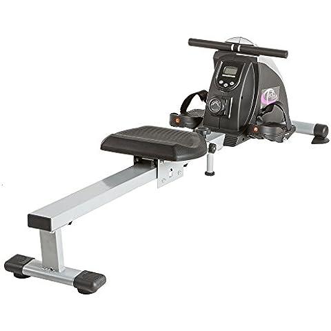 TecTake Aparato máquina de remo fitness entrenador casero para gimnasio en casa con LCD