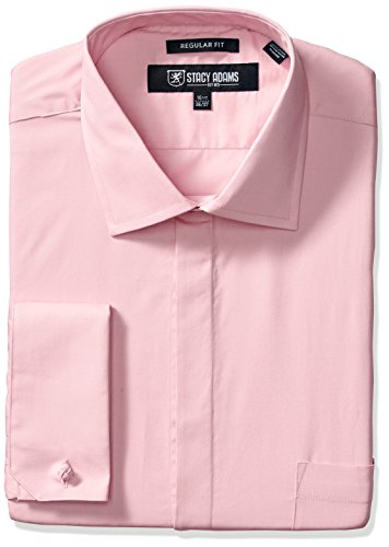 STACY ADAMS Men's Big-Tall 39000 Solid Dress Shirt - Big And Tall Men ' S Dress Shirts