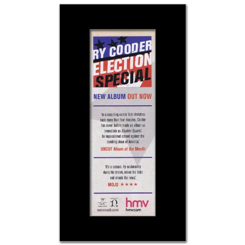 RY COODER - Election Special Matted Mini Poster - 28.5x10cm