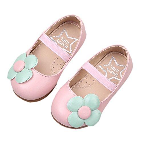 ädchen Schuhe Blume Ballerina Flach Kleid Schuhe Pink 24 (Ballerina Blumen Mädchen Kleider)