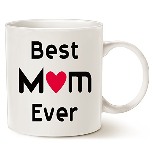 Christmas gifts best mom coffee mug–best mom ever–unico natale o compleanno, idea regalo per mamma madre mama mommy tazza in porcellana bianca, 396,9gram