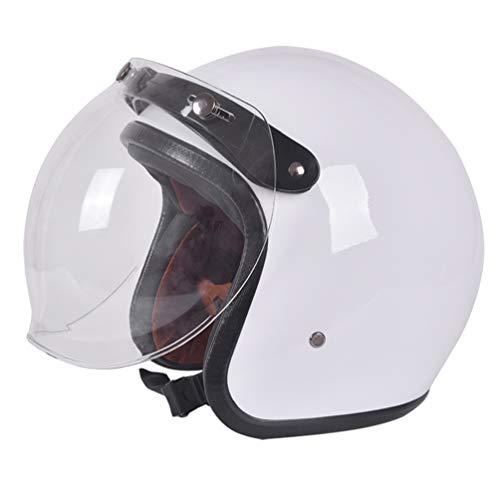 Qianliuk Harley Retro Motorrad Motorrad-Helm Abs Bubble Linse Halb-Face Cap Helm 181 Motorcross Helm Subblue Five Star 55-61cm