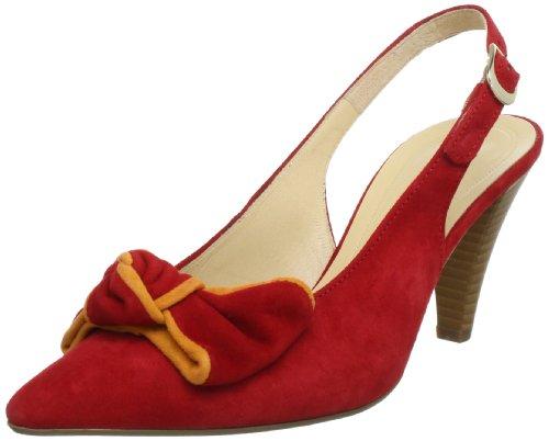 Gabor Shoes Gabor 6158115, Sandali col tacco donna Rosso (Rot (rosso/mango))