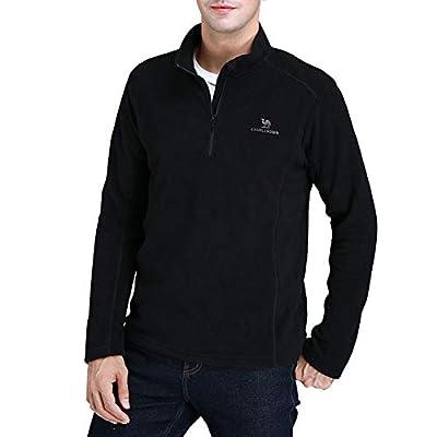 Camel Herren Fleece 1/4 Reißverschluss Fleecejacke Pullover Langärmlig Ski Shirt Sweatshirt für Herren?? von CAMEL CROWN auf Outdoor Shop
