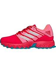 adidas deporte en plata estilo Ultra ligero ajuste cómodo zapatos de Hockey Junior, rosa, 2 (34)