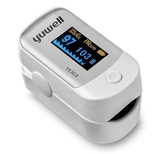 Oximeter Finger Pulsoximeter Fingeroximeter Mit Alarm SauerstoffsäTtigung Fingerpulsoximeter ÜBerwachen Sie Ihre Herzfrequenz Und Den Medizinischen O2-Level-Fingerclip Automatischer Schlaffunktion