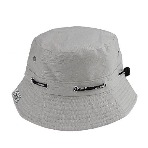 Damen Herren Sonnenhut Sommerhut Strandhut Anti-UV-Hut Fischerhut Anglerhut Freizeithut mit verstellbar Design für outdoor-Aktivitäten