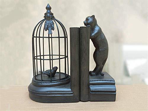 Kreatives Buch von Black Cat Vogelkäfig Vintage Bookblock Bookset Bücherregal Bücherregal Buch stehen ein Paar -