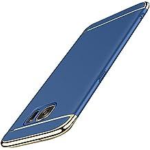 Samsung Galaxy S6 Edge Carcasa ,Qissy® 3 en 1 Bumper Carcasa Funda para Samsung Galaxy S6 Casco Dura rígida PC for Samsung Galaxy S6 Edge