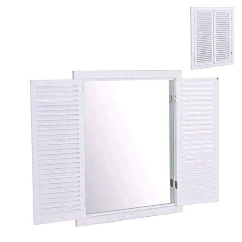 Dcasa - Espejo Ventana Blanco para Pared 50x3x65 cm