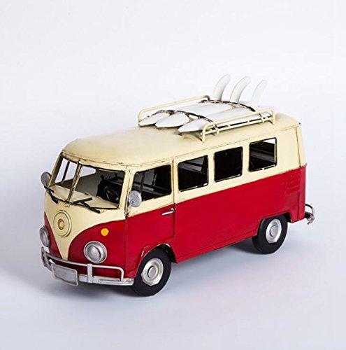 Wmshpeds Amerikanische Landschaft, kreativ, retro, Volkswagen Bus Modelle Ornamente Nostalgie, Home Bar Café Dekorationen (Solar Retro-bus)