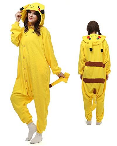 Kinder Jungen Mädchen Herren Damen Onesie Loungewear Kostüm Kostüm Outfit Cosplay Rollenspiel unisex bequem (Alter 12-14) (Pokemon Kostüm Für Jungen)