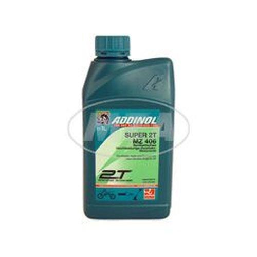 5,4€/l ADDINOL MZ406 SUPER, 2-Takt-Motorenöl, raucharm, low smoke, teilsynthetisch, 1 L Dose