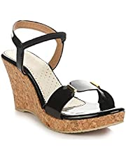 SHOFIEE Synthetic Cork Sole with Wedges Heels for Women