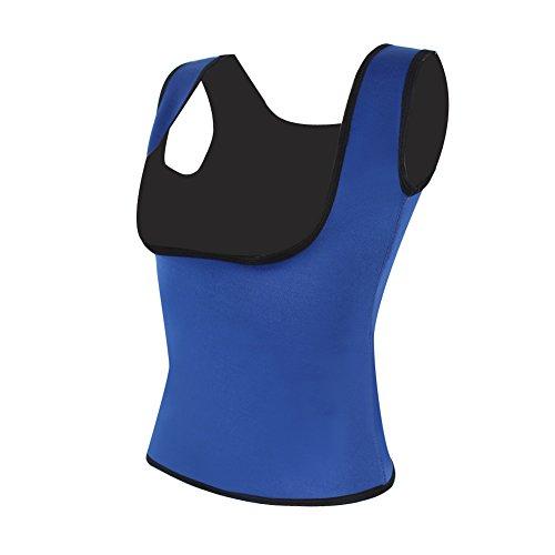 Kiwi-rata Damen Neopren Reißverschluss vorne Sport Taille Cincher Ausbildung Korsage Korsett Corsage Sweat Vest Blau #
