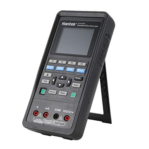 Hantek 2D72 Digitalmultimeter Handoszilloskop 3 in 1 Intelligente tragbare Multitester USB-Schnittstelle Bandbreite 70MHz (schwarz) Display-interface Bracket