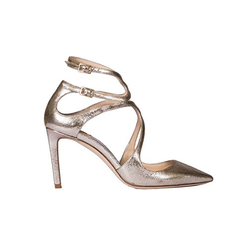 Jimmy-Choo-Womens-Lancer-85GLEGLITTERLEATHERCHAMPAGNE-SilverGold-Leather-Sandals