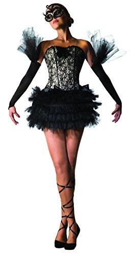Forum-Novelties-78964-negro-cisne-disfraz-de-bailarina-talla-UK-10--14