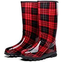 fdd1f350 Botas altas para mujer en el tubo / lluvia impermeable / azul, rojo, negro